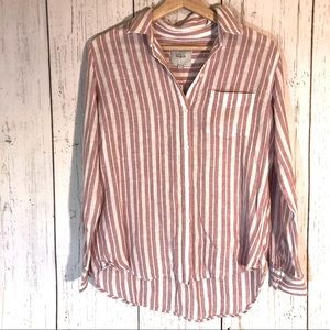 Rails Charli Carmine Stripe Button Down size Small